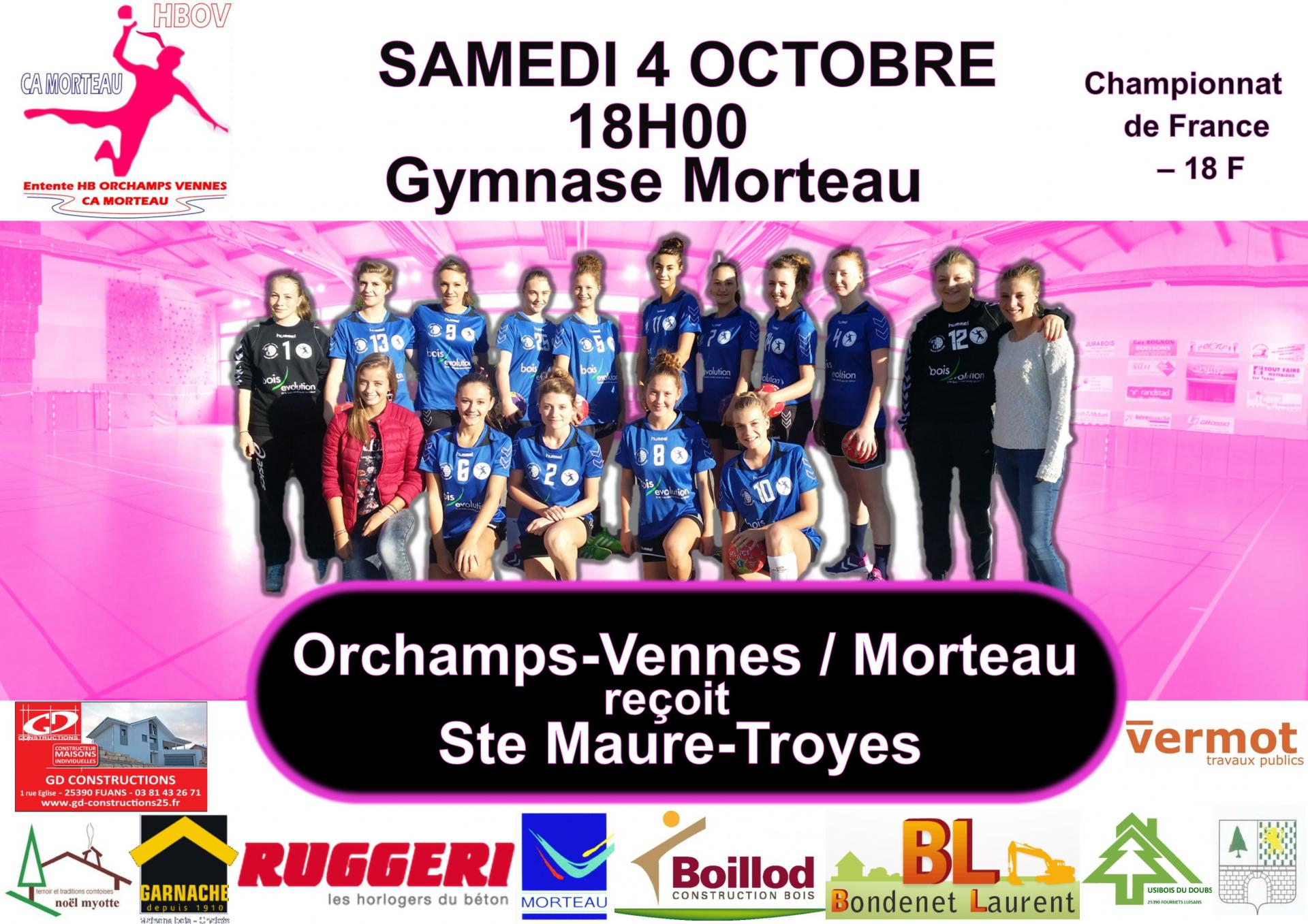 Affiche 18 match 4 octobre
