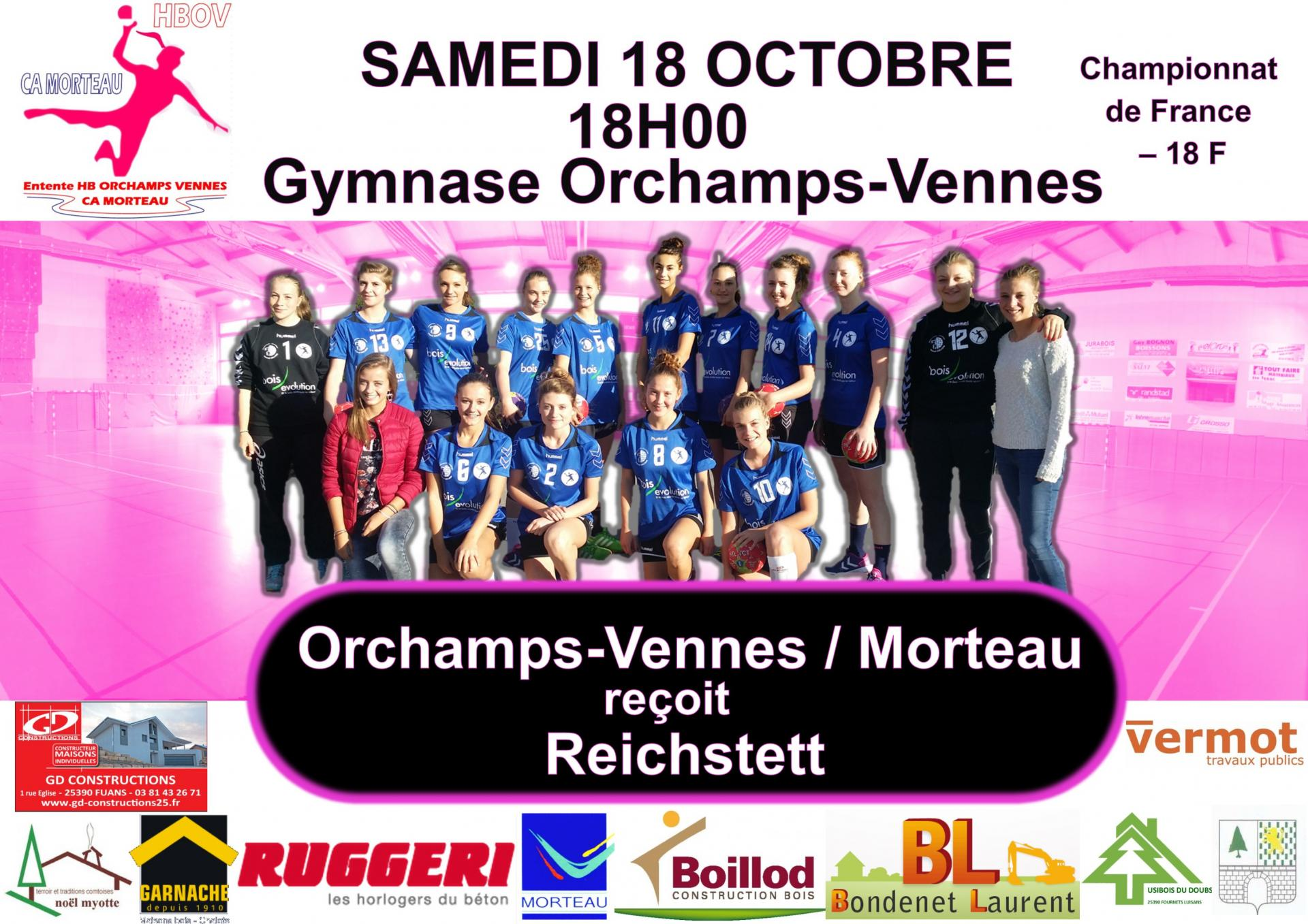 Affiche match 18 octobre 2014
