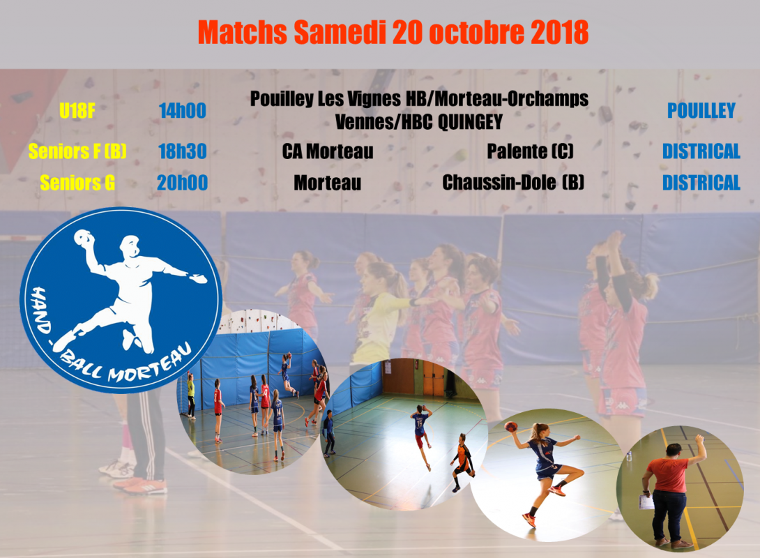 Programme des matchs 20 octobre
