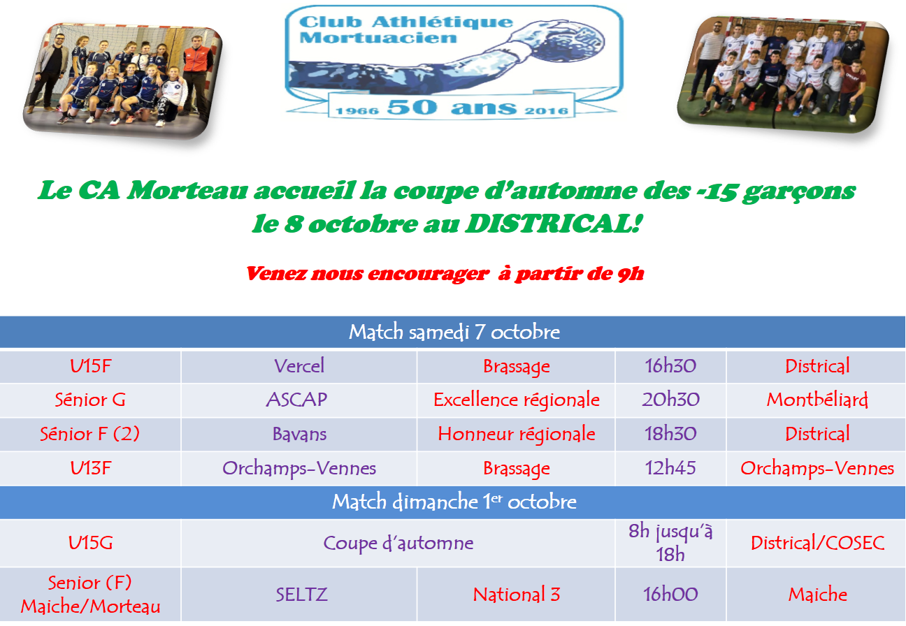 Programme du weekend 7 8 octobre